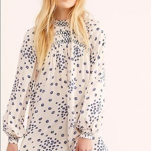 NWT Free People Flowers in Her Hair Tunic, M
